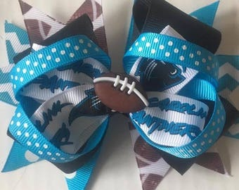 Panther Hair Bow ~ 6 inches