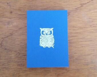 Small Owl Notepad - Marine