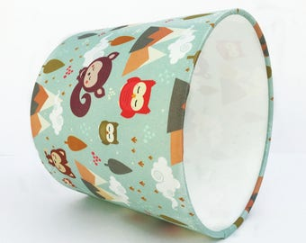 Woodland friends lampshade