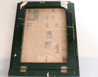 Vintage Silk Screen with Frame