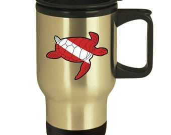 Scuba Diving Turtle -Awesome Travel Mug For Scuba Divers