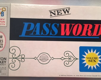 Vintage Milton Bradley Password Game 1966 Complete Volume 6 Brand NEW FREE SHIPPING