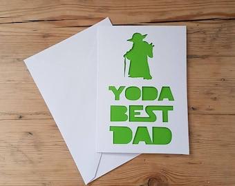 Star Wars Disney Inspired Yoda Father's Day Card