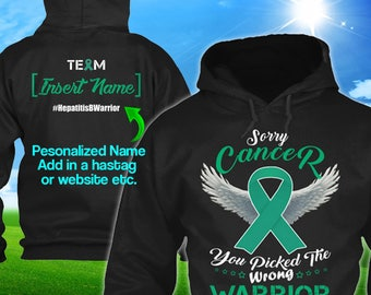 Personalized Liver Cancer Hepatitis B Cancer Awareness Hoodie Jade Ribbon Warrior Men Women Kid Youth Custom Pullover Gift Winter Cloth