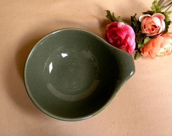 Mid-Century Russel Wright Lug Bowl by Steubenville Pottery USA in the Cedar Green Pattern