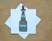 Birthday card, craft ale card, beer drinker card, beer bottle, personalised, beer, dad, brother, friend, handmade, hand drawn,