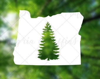 Oregon State Evergreen Tree - car, window, laptop, tablet decal - pnw love, pnw pride, pnw decal, Oregon State decal, OR Love