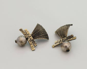 Handmade Silver&Bronze Earrings