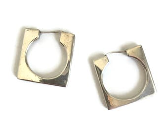 Two Trees Taxco Modernist Sterling Silver Earrings TS-79