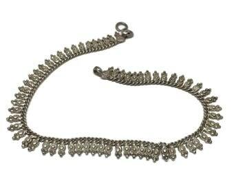 Sterling Silver Bohemian Ankle Bracelet