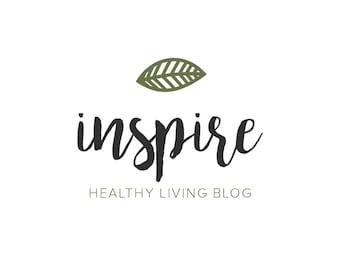 Blogger Logo - Lifestyle Blog Logo - Premade Logo - Boutique Logo - Leaf Logo - Minimal Logo - Professional Logo - Spa Logo