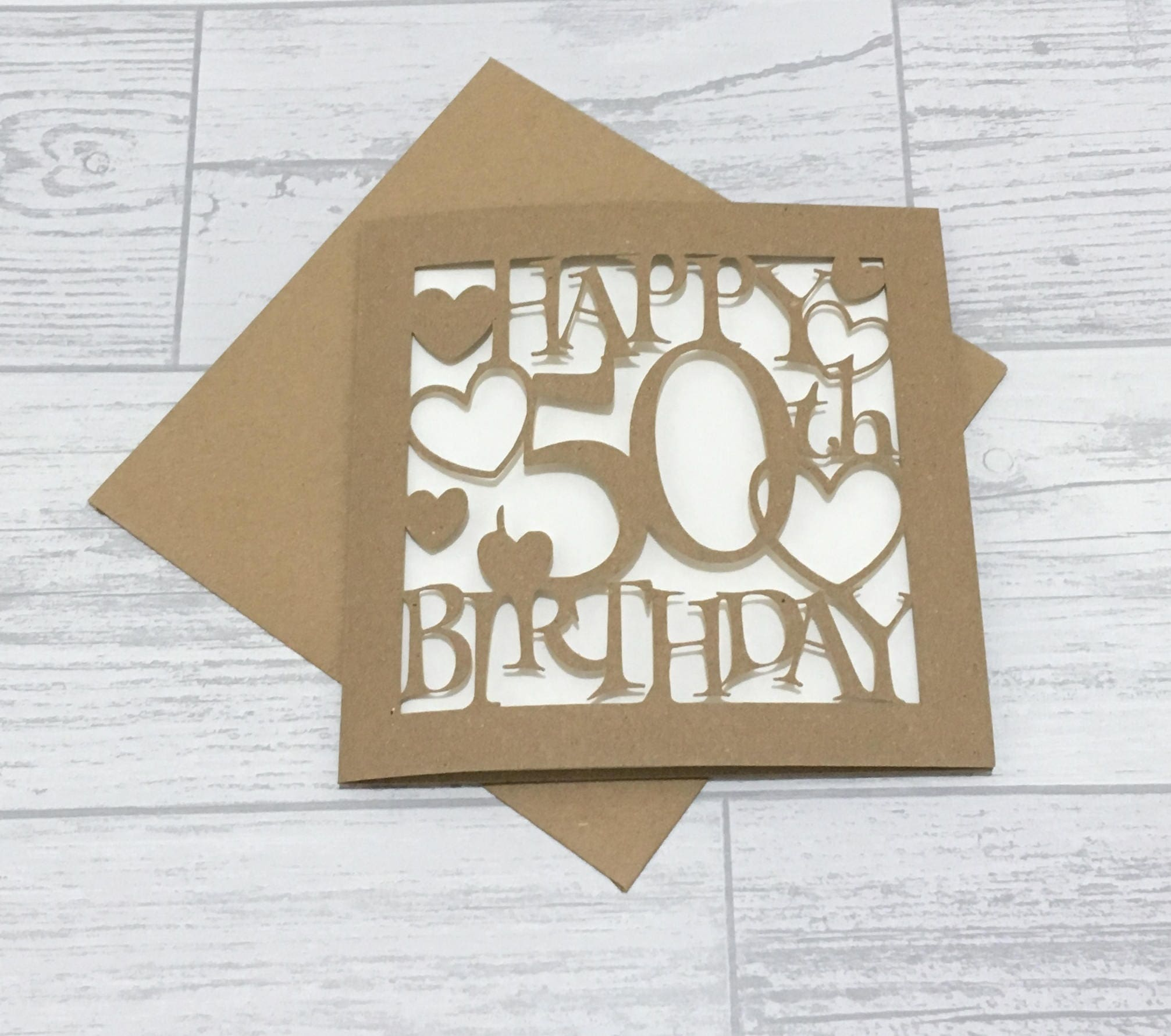 50th Birthday Card Fiftieth Birthday 50th Card Happy 50th