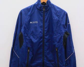 Vintage COLUMBIA Sportwear Company Blue Jacket Windbreaker Size S