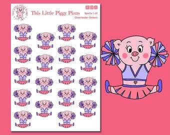 Cheerleader Oinkers - Cheerleading Stickers Cheerleader Stickers - Planner Stickers - Sports - Hobbies - Football Season - [Sports 1-02]