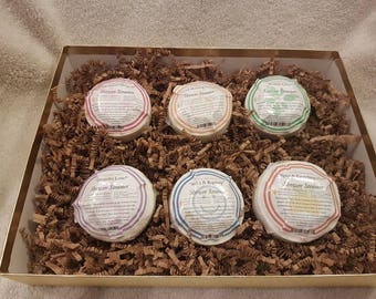 Variety pack, Natural Gift for her, Shower Steamer Puck set of 6 aromatherapy blends.