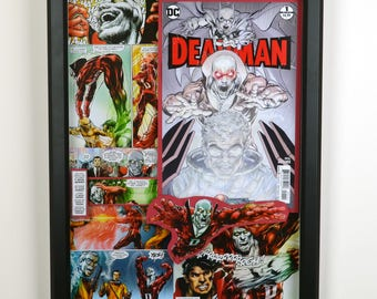 "Deadman, Issue #1 ""Journey Into Death (Part One)"" (2017) featuring Glow In The Dark Cover - 3-D Comic Collage"