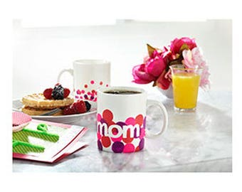mother's day personalized polka dot mug