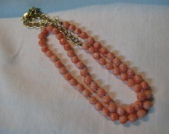 S 21g Vintage Red ROSE PINK Necklace Original Mediterranean CORAL