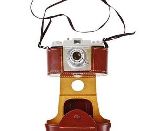 Vintage Kodak Pony 135 Model C Camera with Field Case, Manual and Extras