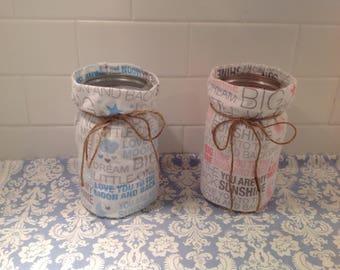 Baby Shower Mason Jar Cover-Ups