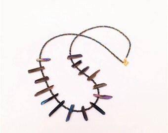 Purple Quartz Shards Necklace