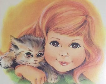 Kitschy Framed Irene Charles Print
