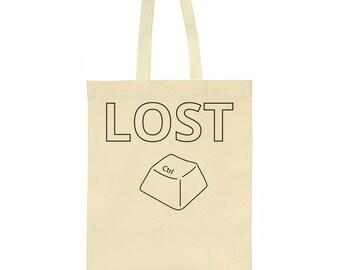 Lost Control Ctrl Key Tote Bag