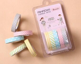 Washi Tape pastel colors-washi tape pastel colors-adhesive tape decorated
