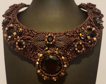 Grapevine Necklace - Bead Embroidery Necklace