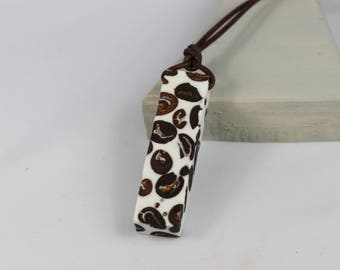 Barista Coffee Coffeebeans coffee lovers necklace necklace with coffee beans in white resin resin