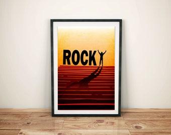Rocky Poster, Rocky, Movie Print, Film Print, Print, Film Poster
