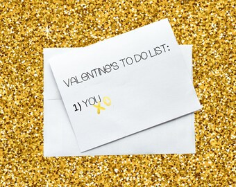 Greeting Card - Valentine's To Do List - You.