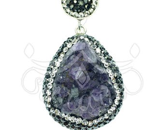 Turkish jewelry: amethyst pendant, amethyst necklace, silver necklace, anniversary gifts, gift for women, bridesmaid gift, gemstone necklace