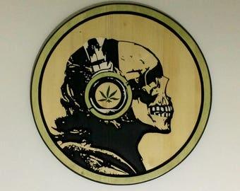 Carved Wood Pop Culture Artwork
