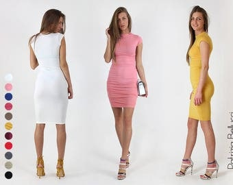 New!!! Spring 2017 Tight elegant dress / Casual dresses / Dresses for Woman / Short dress / Lycra dress / Colorful Clothing / Party Dress