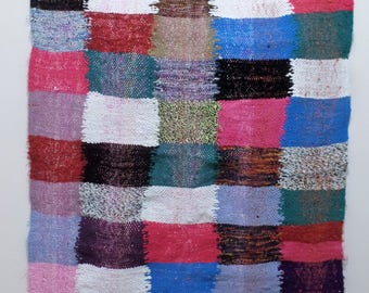 Moroccan Rug Carpet Multi Color hand-woven Berber Tribal by pure material weaves