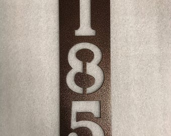 Rectangle Vertical Metal House Numbers / Metal Address Sign a Address Numbers / Mailbox Sign