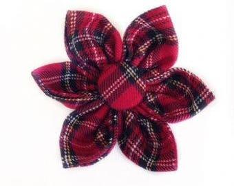 Red Tartan Flower