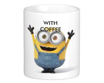 11 oz Minion Moods With and Without Coffee