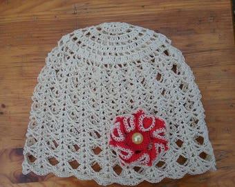 crochet baby hat, summer hat, girls hat, gift, crochet hat,beige hat,