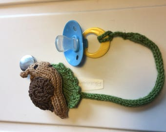 Snail Pacifier Clip (binkie not included)