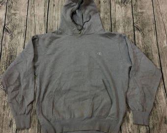 CHAMPION AUTHENTIC AMERICAN athletic apparel hoodie sweatshirt gray sweater sz m