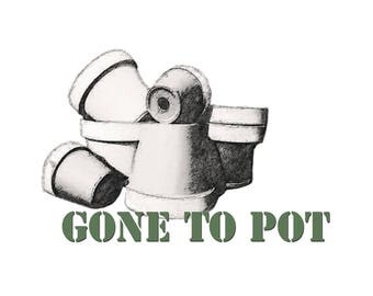 T-SHIRT: GARDENING / Gone To Pot - Classic T-Shirt & Ladies Fitted Tee - (LazyCarrot)