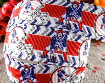 Patriots Ribbon, Grosgrain Ribbon, Team Ribbon, Ribbon By The Yard, Patriots,NFL Ribbon, Football Ribbon, Ribbon, Football