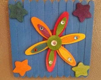 Refrigerator Magnet add a little flower power