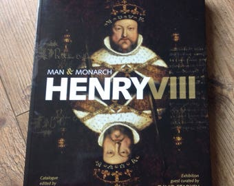Man & Monarch Henry VIII Book, Vintage King Henry VIII Coffee Table Book