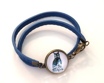 Mr Blue Cat Bracelet