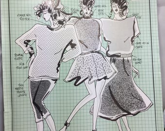 Two Knitwit Complete & Unused Patterns for ladies clothes 1988. Australian.