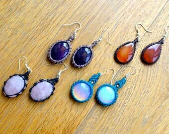 earrings with stones of your choice