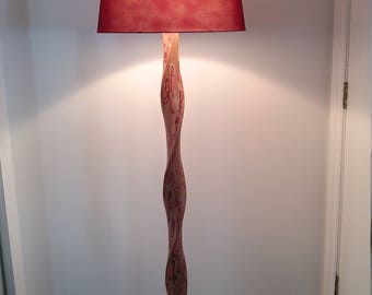 Twisted wooden lamp